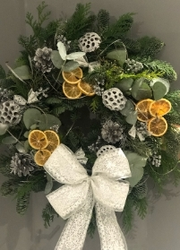 Festive Wreath (Silvers and whites)