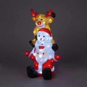 LED Santa Snowman and Reindeer tower